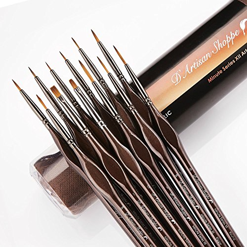 Detail Paint Brush Set 12pc Minute Series Xii Miniature Brushes For