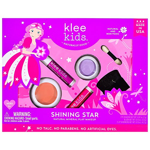 6 Pieces Mermaid Makeup Brush Set Lovely Makeup Brush Kit for Girls